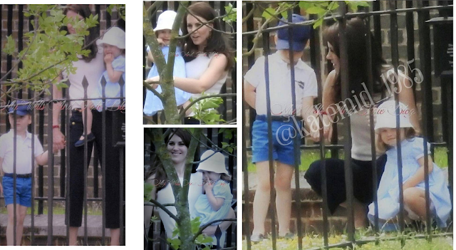 Nowe/ stare zdjęcia Kate, George'a i Charlotte