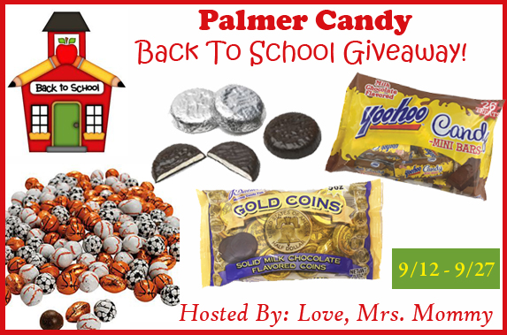 Palmer Candy Back To School Giveaway! 9/27