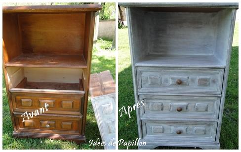 Id es de papillon peindre un petit meuble en blanc fa on - Petit meuble a peindre ...