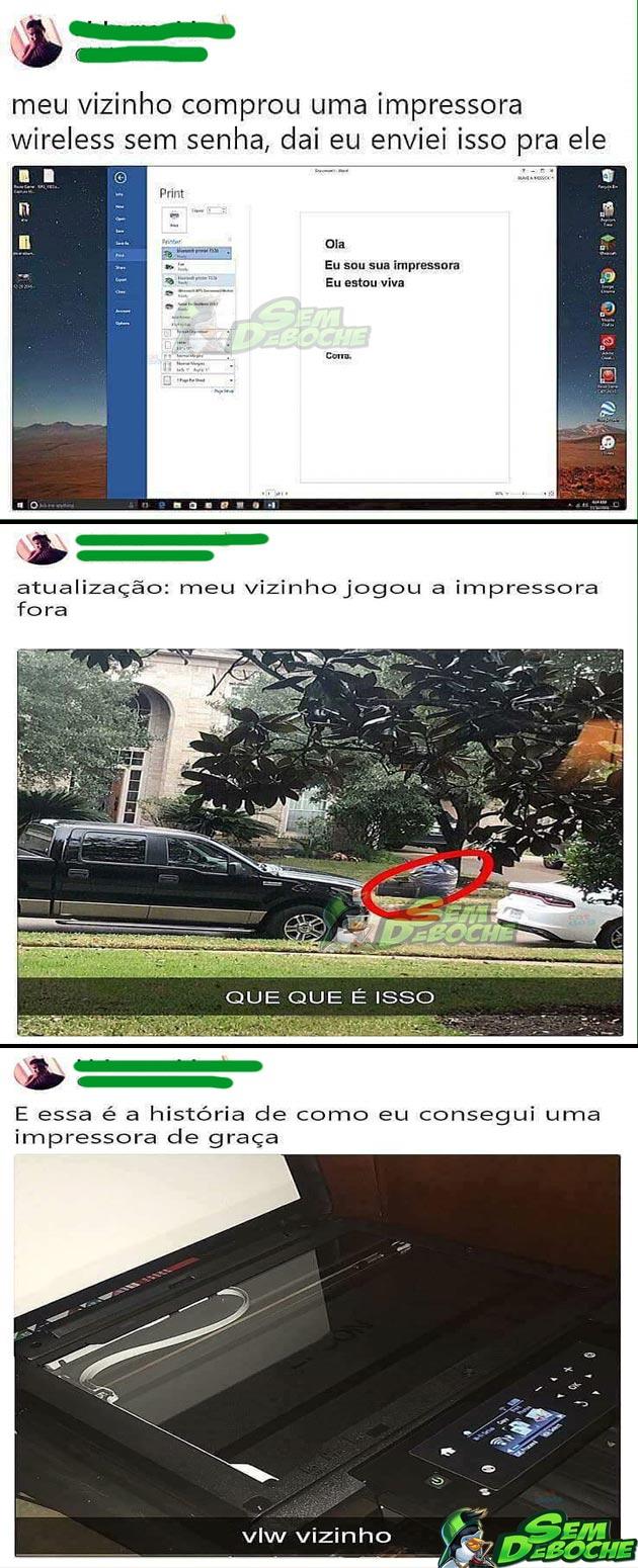 COMO CONSEGUIR UMA IMPRESSORA DE GRAÇA