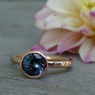 sapphire rose gold