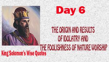 the foolishness of nature worship