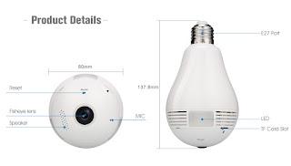 lampada led ip camera
