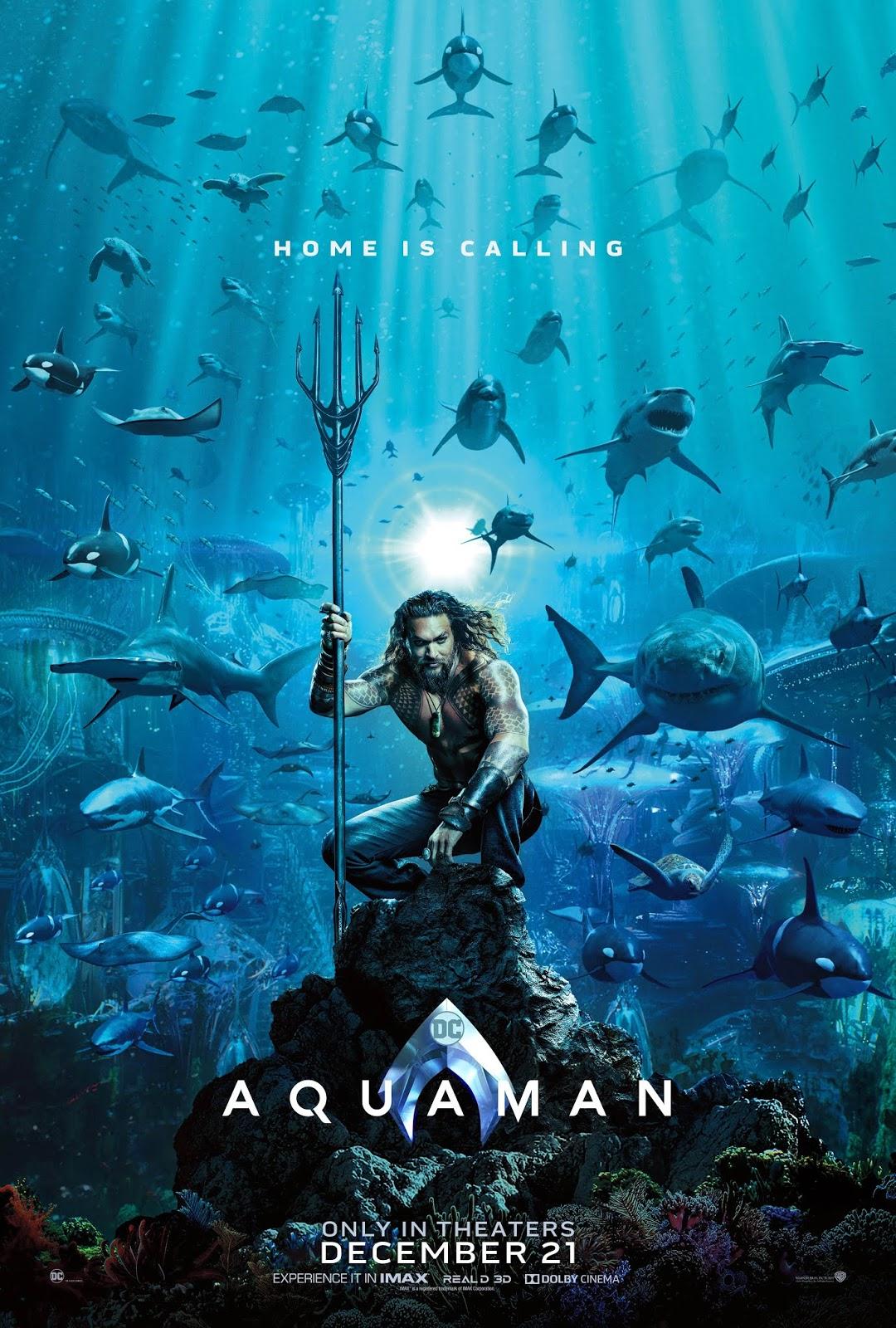 Liberado novo pôster de Aquaman com Jason Momoa