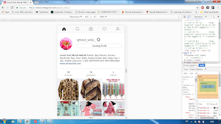 unggah foto IG (Instagram) dengan Laptop