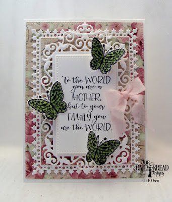 Our Daily Bread Designs, Greatest Gift Stamp Die Duo, Lavish Layers, Pierced Rectangles, Filigree Frames, Romantic Roses, designed by Chris Olsen