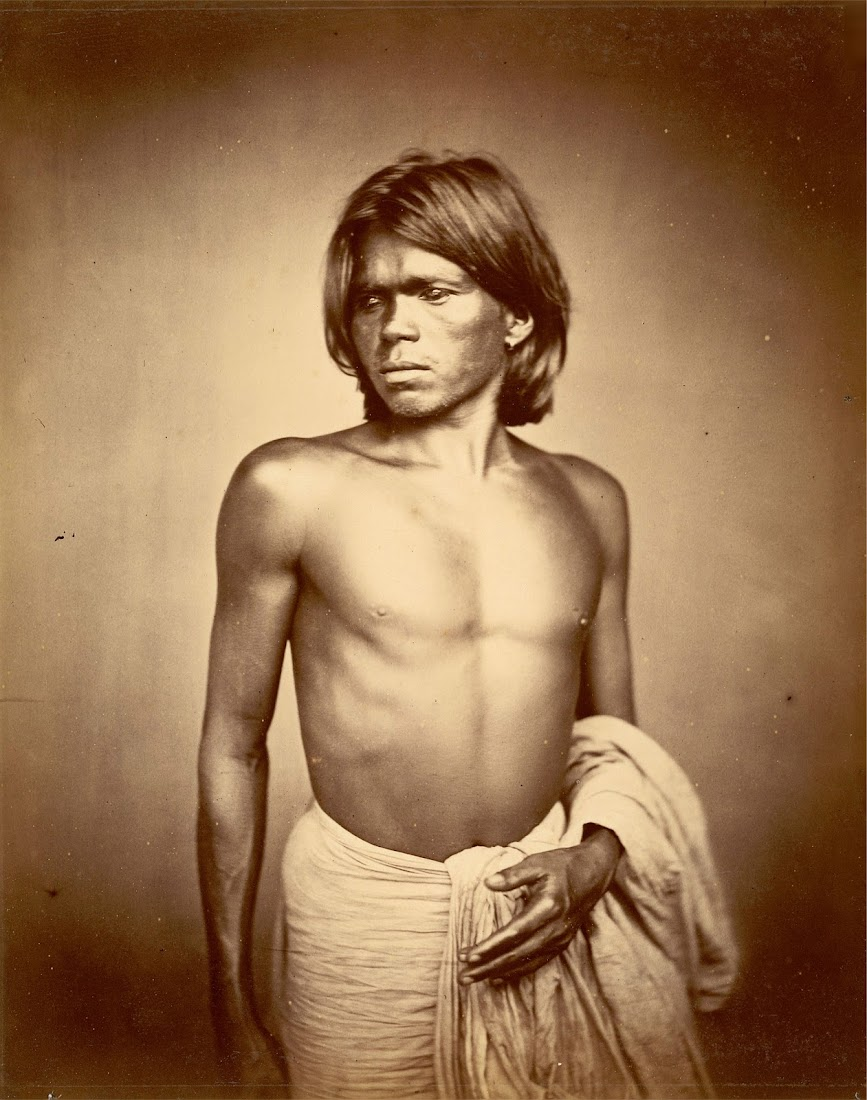 Vintage Photograph of an Indian Man from Eastern Bengal - 1860's