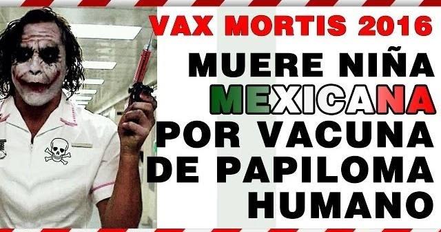 competitive price 993bc b93e6 Conspiraciones y Noticias Actuales  Vax Mortis 2016  (VPH) Vacuna de  Papiloma Humano Mata a Niña, Videoreportaje Especial de CR Noticias