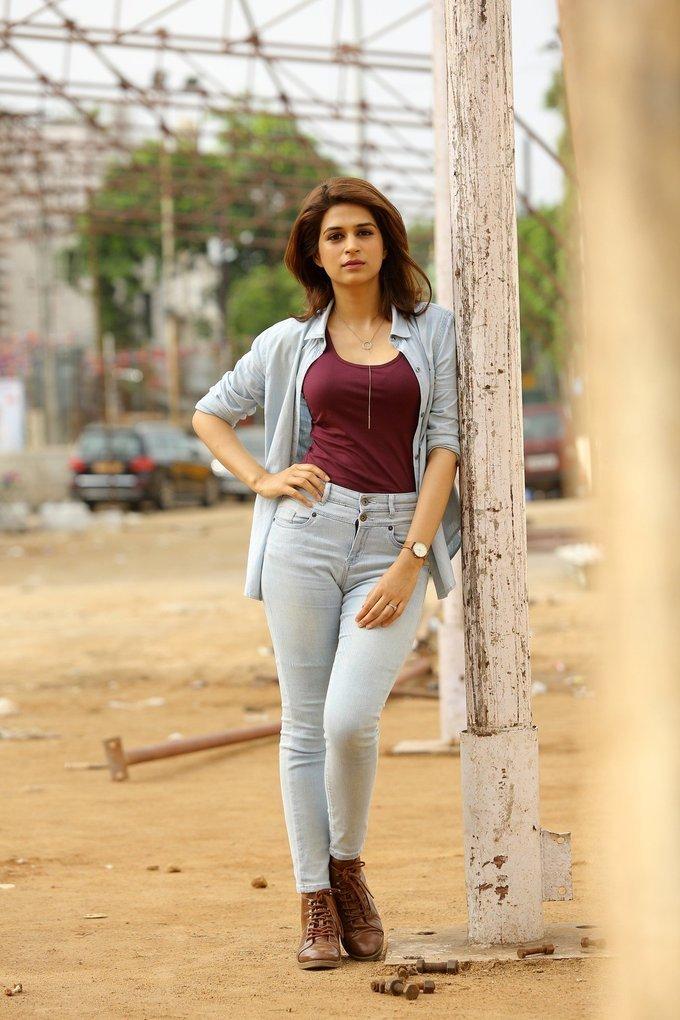 Shraddha das latest Photos In Blue Shirt Jeans