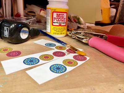 kaleidoscope paper circles