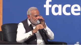 modi crying at facebook event