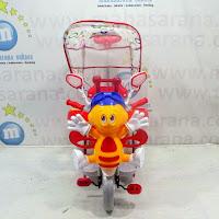 family lebah sepeda roda tiga anak