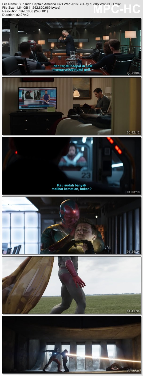 Screenshots Download Film Gratis Captain America: Civil War (2016) BluRay 480p MP4 Subtitle Bahasa Indonesia 3GP