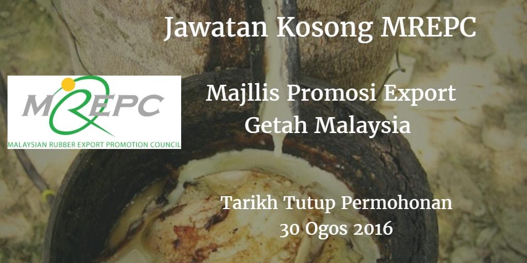 Jawatan Kosong MREPC 30 Ogos 2016