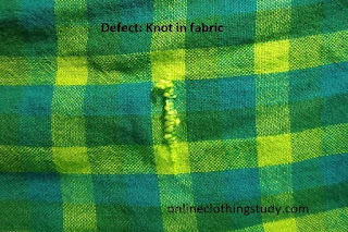 knot in fabric