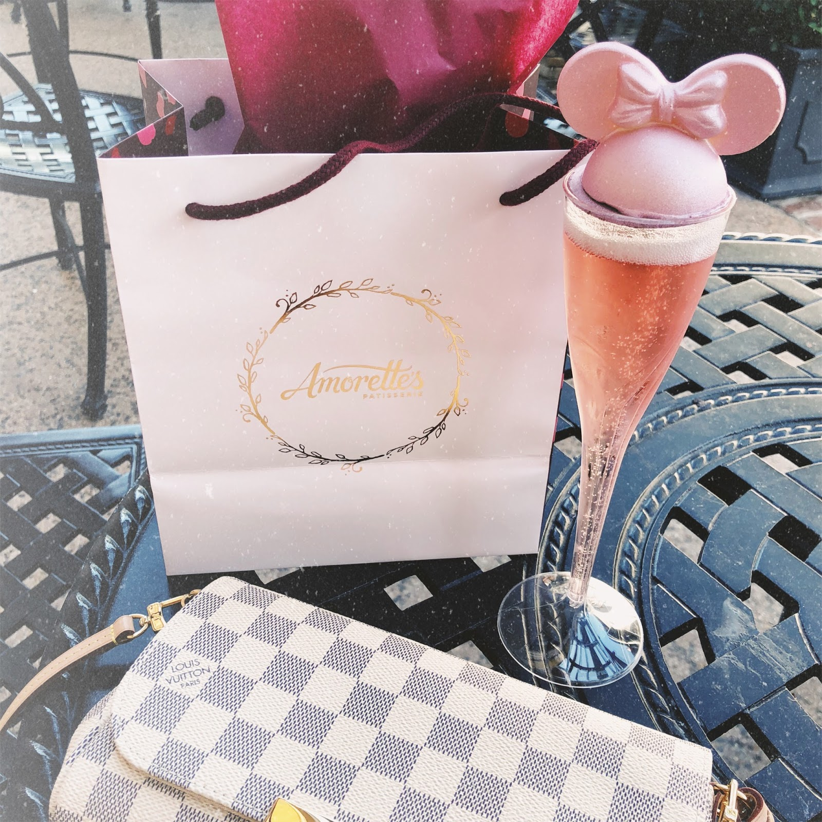 florida weekend, disney springs, warm weather style, millennial pink celebration toast
