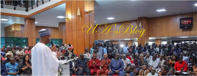 Read full speech of Saraki's World Press Conference on NASS invasion by DSS