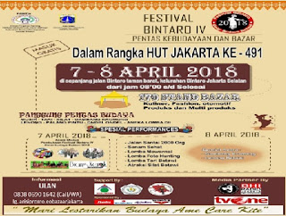 event april 2018 Festival Bintaro ke-4