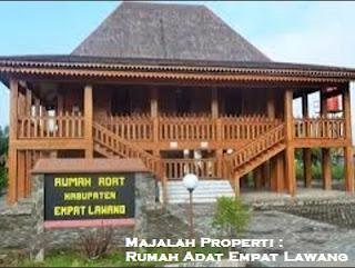 Desain Bentuk Rumah Adat Empat Lawang dan Penjelasannya, Sumatera Selatan