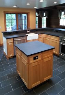 Custom maple kitchen with hidden pulls