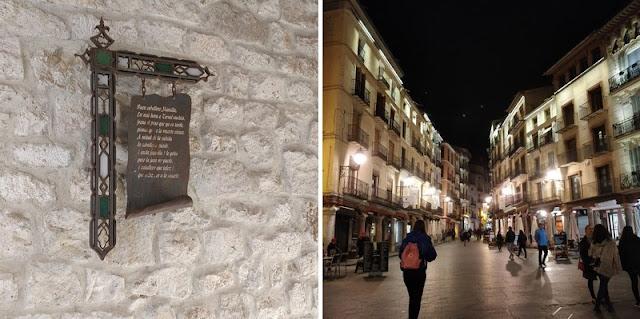 the green frog souvenirs du mois de novembre 2018 visite ville espagnole teruel de nuit panneaux explicatifs