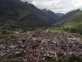 O Povoado de Calca, no Vale Sagrado, Peru