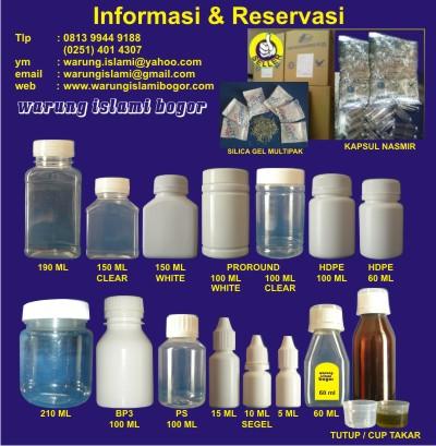 Jual Botol Plastik WARUNG ISLAMI BOGOR
