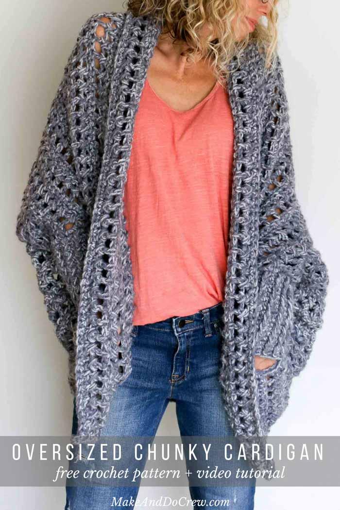 Free Crochet Patterns Club Free Trendy Oversized Cardigan Crochet