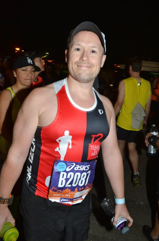 2015 LA Marathon charity runner Dodger Stadium