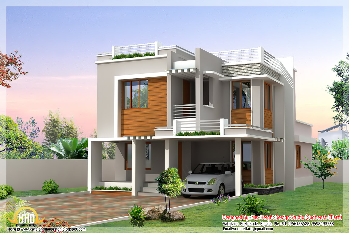 6 different indian house designs kerala home design and for Indian home outer design