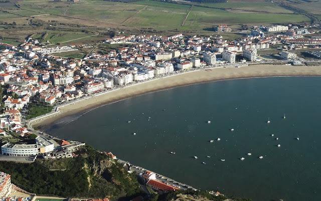 Foto aérea de São Martinho do Porto – Portugal
