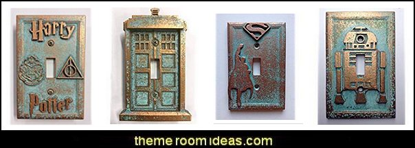 Light Switch Covers  wall decorations - wall art prints - wall stencils - wall murals - wall decals - wall decor - Lighted Letters - wall letters - Storage wall shelves - Marquee Lights - wall lights - picture frames - mirrors - decorative accents  ceramic wall decor - cardboard wall mounts - Stuffed Animal Trophy Head wall decorations -