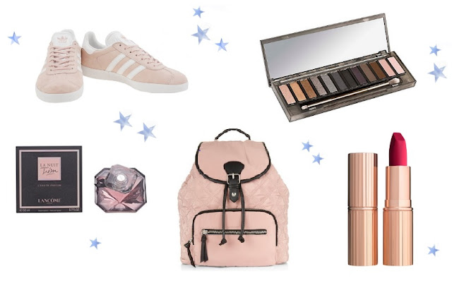 wishlist gazelle rose gold pink beauty urband decay charlotte tilbury lancome