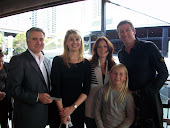 Ian and Jacqueline Harvey with Glenn, Sarah and Holly McGrath