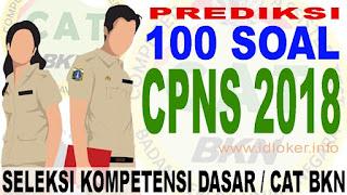 PREDIKSI 100 Soal CPNS 2018
