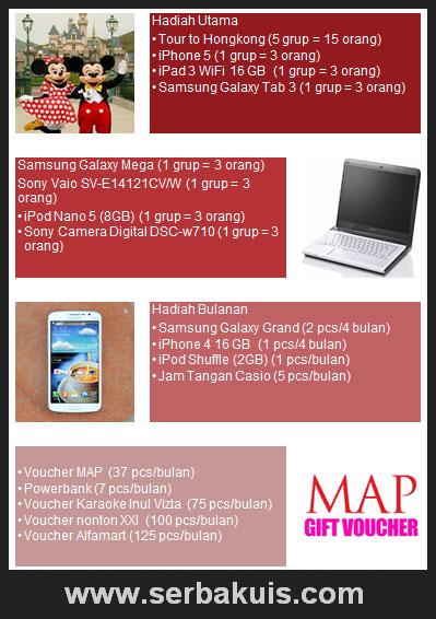 Promo Berhadiah iPhone 5, iPad 3, iPod Shuffle, dll