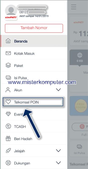 Cara Tukar Telkomsel POIN Ke TCASH