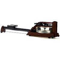 Water Rower A1 S4 ROSE WaterRower Rowing Machine, with water flywheel in enclosed tank, self-regulating resistance, aluminum monorail, S4 monitor, ash wood frame