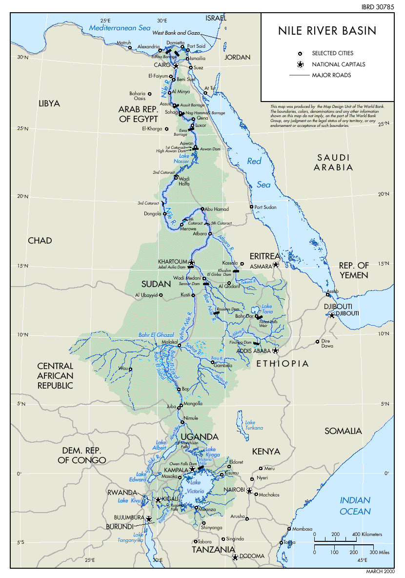 Rio Nilo na África