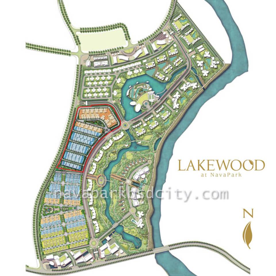 Peta Lokasi Cluster Lakewood NavaPark BSD