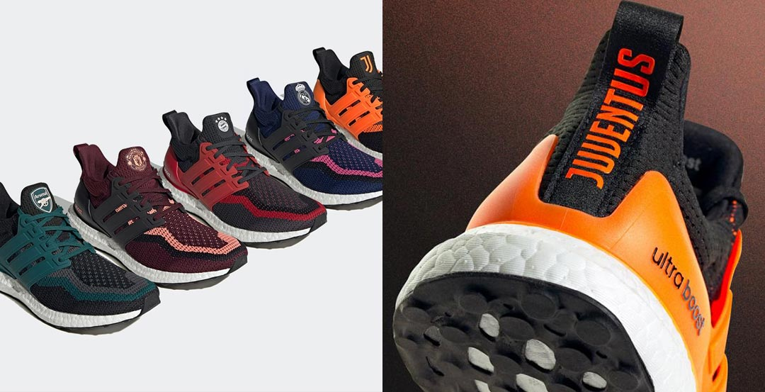 Adidas Arsenal Bayern Munich Juventus Manchester United And Real Madrid Ultra Boost Revealed Footy Headlines