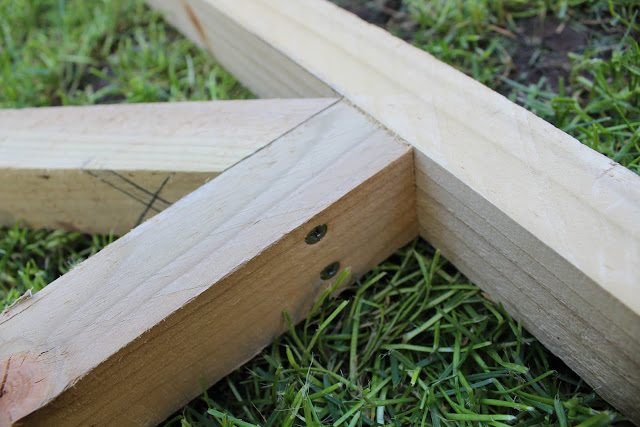how to attach a diagonal cross timber
