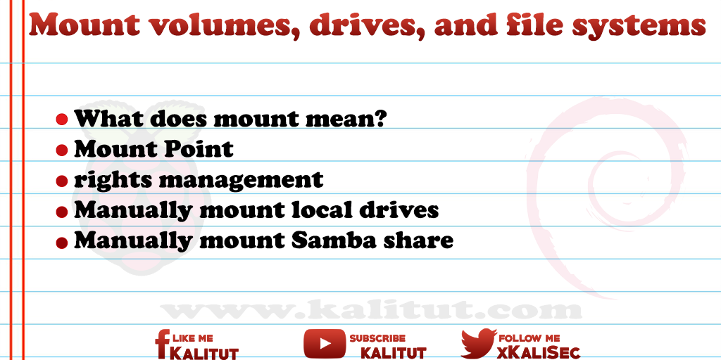 how to Mount volumes, drives, and file systems - KaliTut