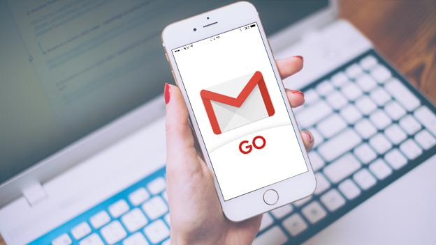 Google lança o Gmail Go, uma versão reduzida que ocupa menos espaço de armazenamento.
