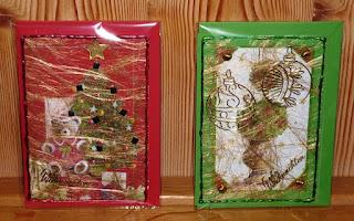 Weihnachtskarten mit Dekovlies