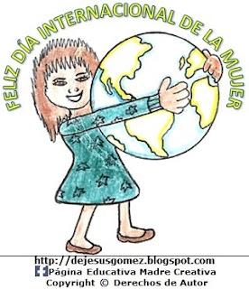 Dibujo del Día Internacional de la Mujer a colores