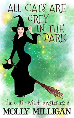 All Cats Are Grey in the Dark (Book 3 in the Celtic Witch mysteries), by Molly Milligan