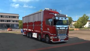 Scania R500 8×4 Pickup Jilet mod