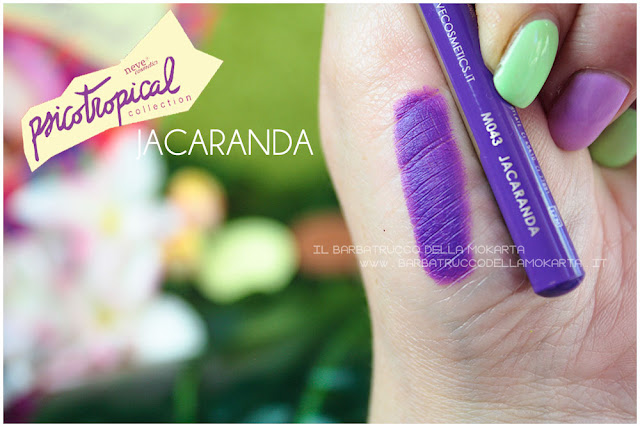 biopastello occhi JACARANDA SWATCHES eyepencil psicotropical collection neve cosmetics
