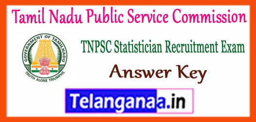 TNPSC Tamil Nadu Public Service Commission Statistician Answer Key 2017